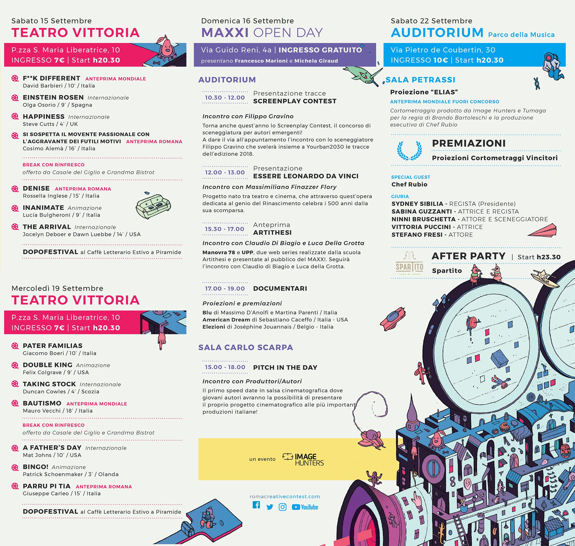 Roma Creative Contest programma edizione 2018