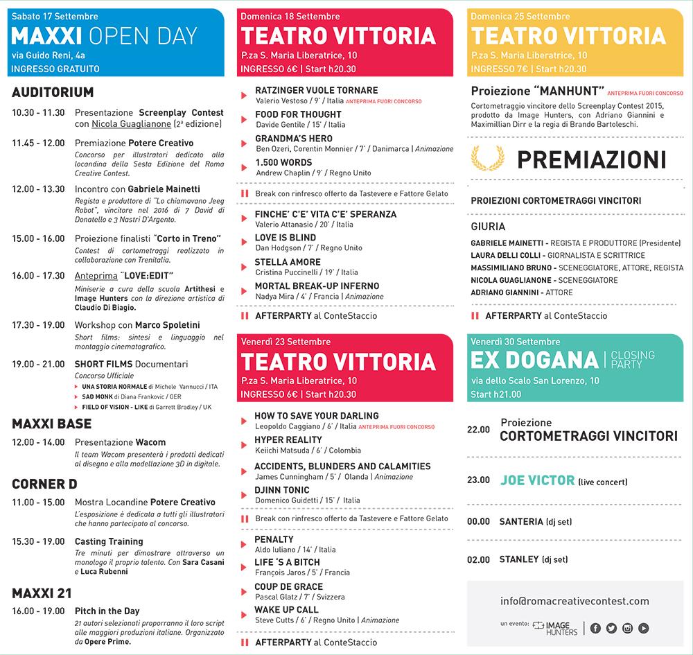 Programma Roma Creative Contest 2016